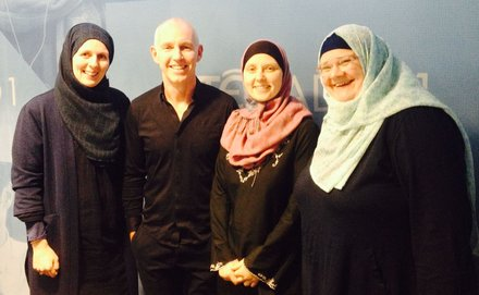 Brigid Aylward, Bara Alich, and Rachel Woodlock with Ray D'Arcy.